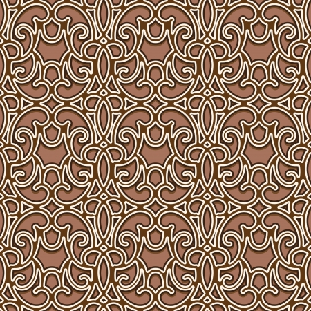 soulagement: Abstract seamless pattern, ornement treillis d'or