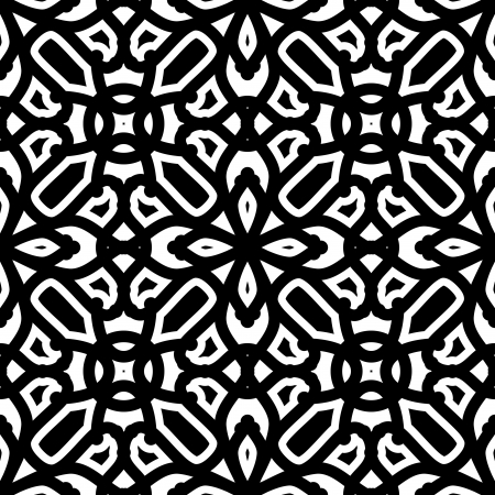 lattice: Black and white seamless pattern