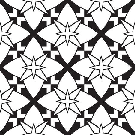 pave: Black and white geometric seamless pattern