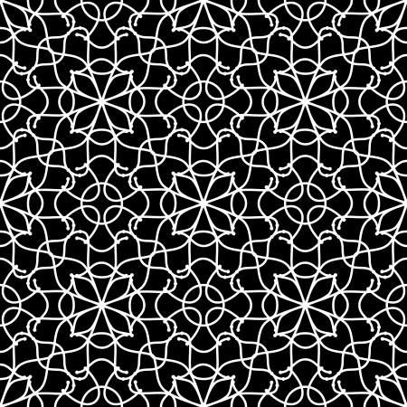 Abstract white pattern on black Stock Vector - 19258542