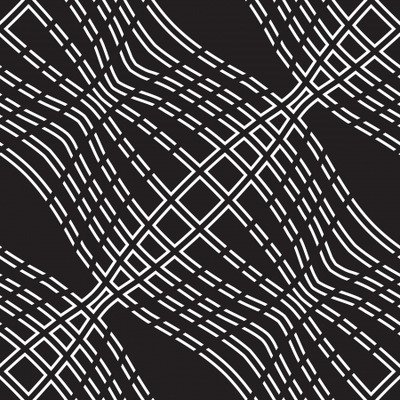 monochromatic: Abstract seamless pattern with wavy dotted lines