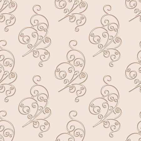 swirly design: Abstract floral seamless pattern Illustration