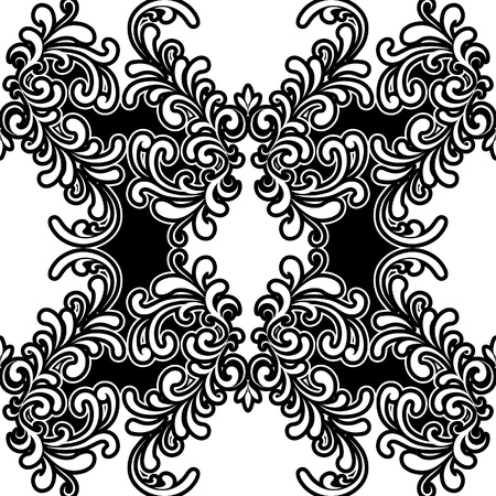 Black and white vintage seamless pattern Stock Vector - 19258544