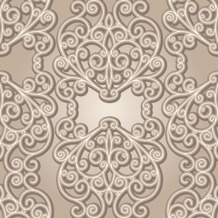 arabesque wallpaper: Vintage lace background, abstract beige seamless pattern
