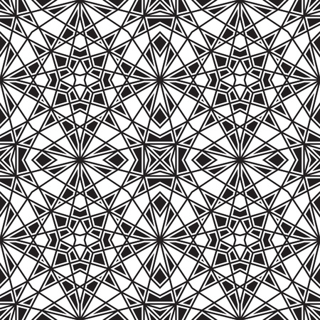 Black and white geometric seamless pattern Stock Vector - 19557131