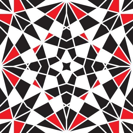 kaleidoscopic: Mosaic ornamental tiles, abstract seamless pattern