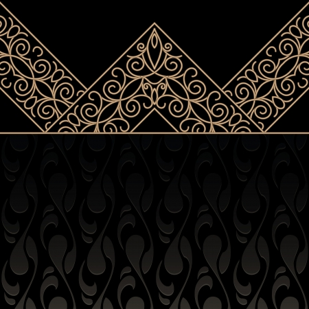 vintage gold frame: Vintage gold frame, decorative dark background