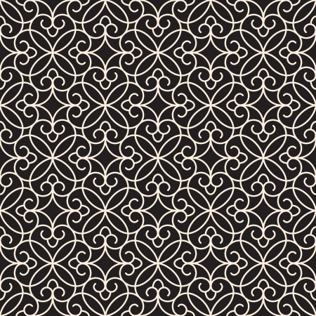 Abstract seamless pattern, monochrome lace texture Vector