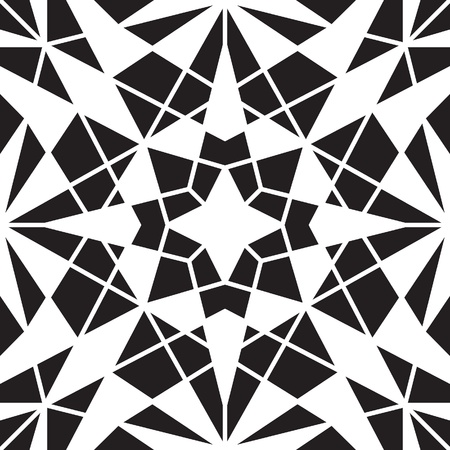 Abstract black and white background, geometric seamless pattern Stock Vector - 19716244