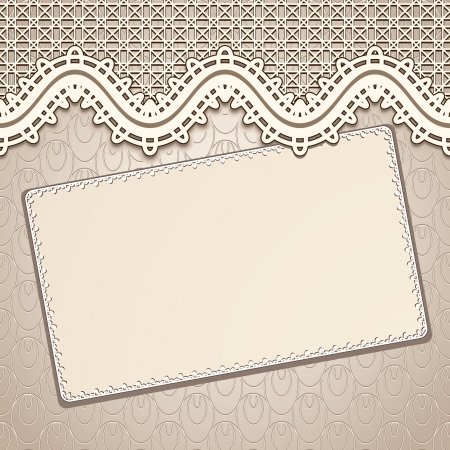 Fond de dentelle ancienne, conception d'invitation millésime