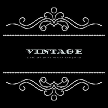 diamante: In bianco e nero sfondo vintage gioielli Vettoriali