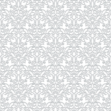 White lace texture, vintage seamless pattern Vector