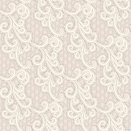 Old lace seamless pattern