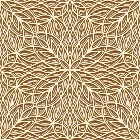 metal lattice: Vintage gold texture, seamless pattern