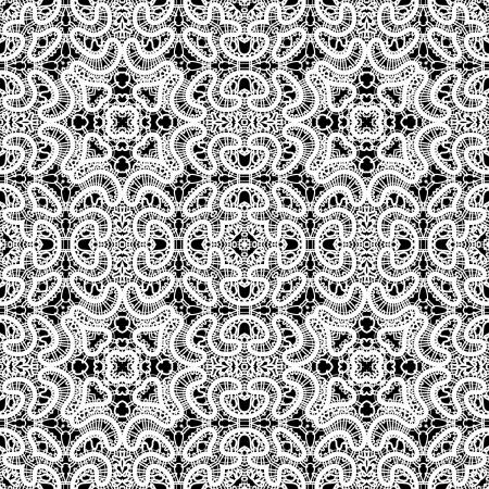 tatting: Realistic white lace texture, seamless pattern Illustration