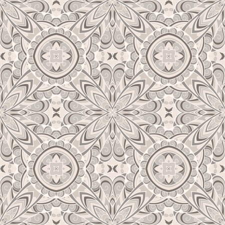 Abstract seamless pattern, decorative fabric ornament Vector