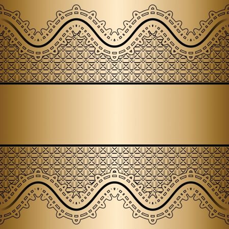 wavy fabric: Vintage gold lace background