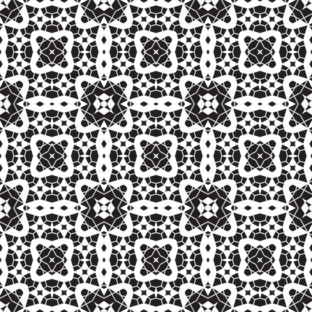 Black and white paper lace texture, seamless pattern Vector