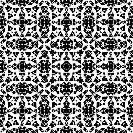 Cutout paper lace, monochrome seamless pattern Vector