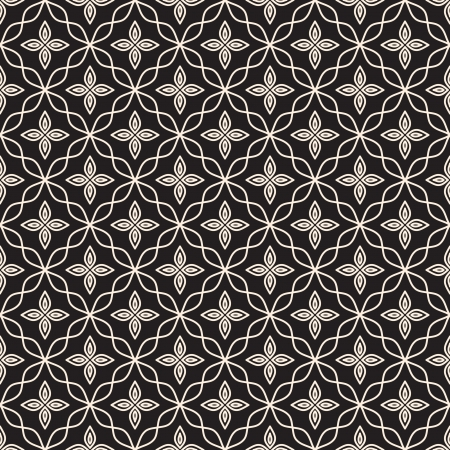 black lace: Abstract seamless pattern, decorative lacy texture Illustration