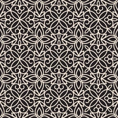 tulle: Vintage lace ornament, seamless pattern Illustration