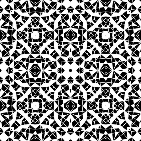 Paper lace texure, black and white seamless pattern Vector