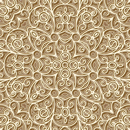 Vintage gold background, seamless pattern Vector