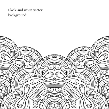 monochromatic: Black and white decorative background