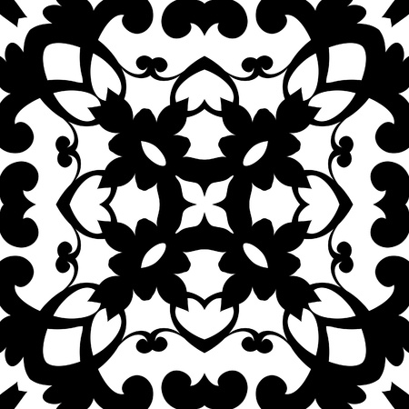 Abstract black and white seamless pattern Stock Vector - 21587287