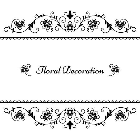 cadre noir et blanc: D�cor floral frame
