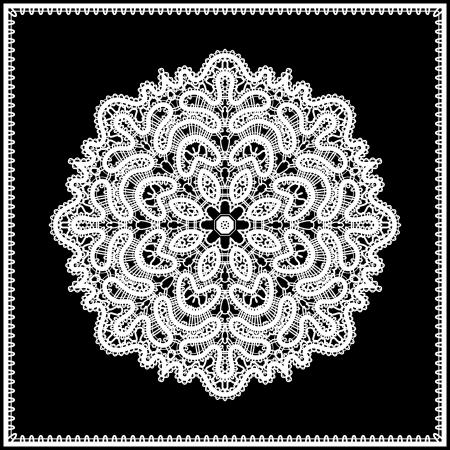 tatting:  White lace doily