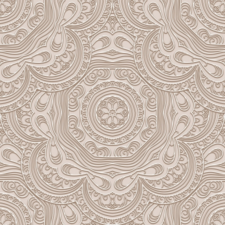 Abstract beige seamless pattern Vector