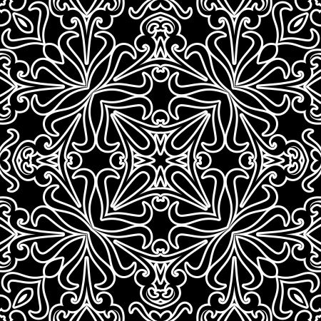 Abstract black and white seamless pattern Stock Vector - 21997716