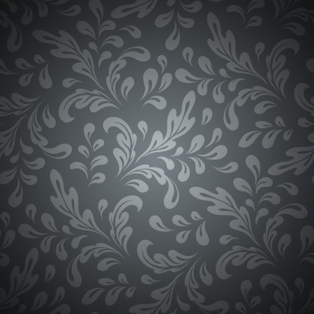 Abstract swirls, floral seamless pattern Vector