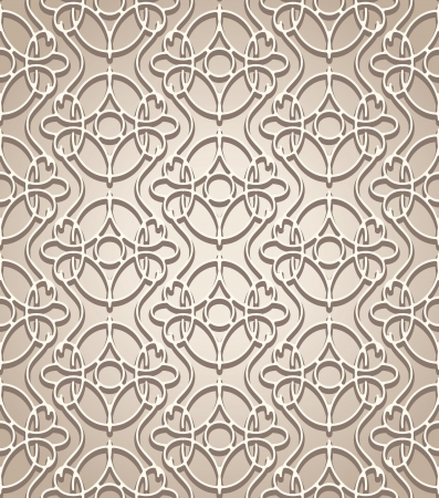 lattice: Abstract beige lace seamless pattern
