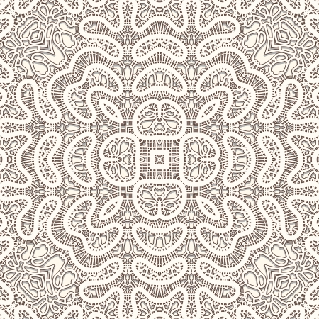 Realistic lace, vintage seamless pattern Vector