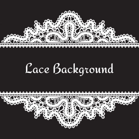 Vintage realistic lace background Vector
