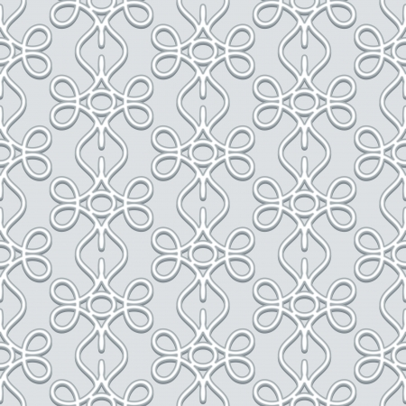 Abstract swirls, floral grey seamless pattern Vector