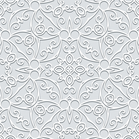 Abstract grey floral seamless pattern Vector