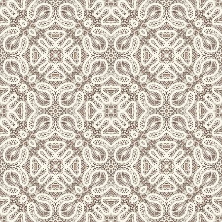 Old lace, vintage seamless pattern Vector