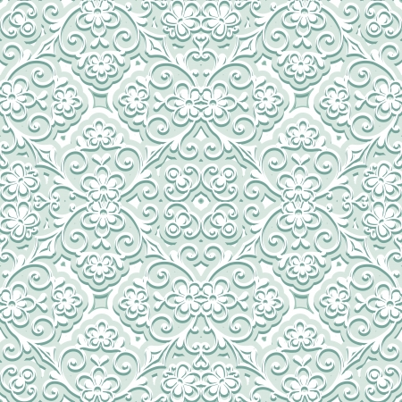 Pale green floral pattern Vector