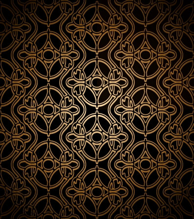 lace like: Vintage dark gold lace texture, seamless pattern Illustration