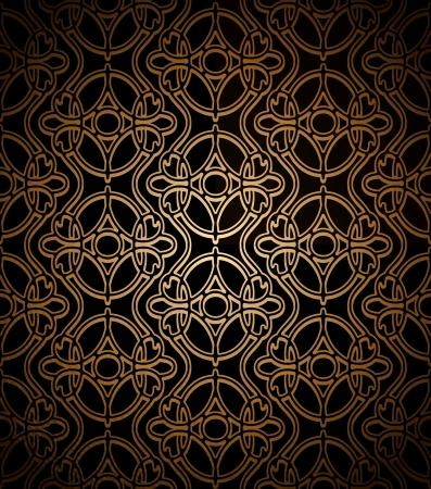 lace like: Vintage dark gold lace texture, seamless pattern Illustration