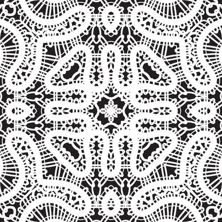 White lace texture, seamless pattern Vector