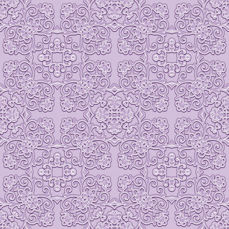 Abstract lilac seamless pattern, decorative fabric ornament Vector