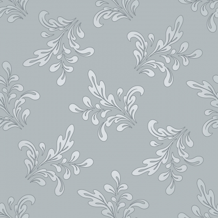 Abstract floral background, seamless pattern Vector