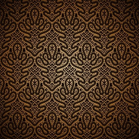 gold fabric: Vintage dark gold lace seamless pattern