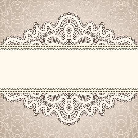 Old lace, vintage background Vector