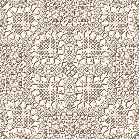 Old lace texture, vintage seamless pattern Vector