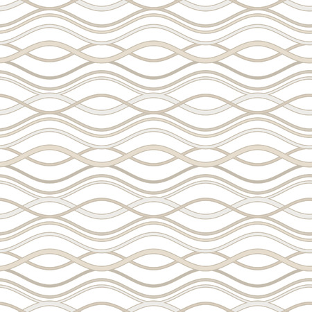 Abstract wavy lines background, seamless pattern Vector